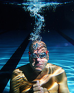 Portrait of champion swimmer Ed McCullough.