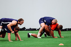 Max Lahiff and Andrew Turner in action as Bristol Bears start to use their new almost completed Training centre - Rogan/JMP - 08/07/2020 - RUGBY UNION - Beggar Bush Lane - Bristol, England.