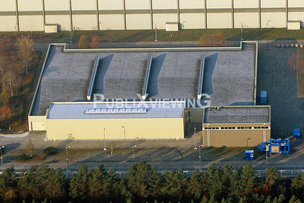 Luftaufnahme des Abfalllagers (ALG) f&uuml;r schwach- und mittelradioaktiven Atomm&uuml;ll in Gorleben.<br /> <br /> Ort: Gorleben<br /> Copyright: Andreas Conradt<br /> Quelle: PubliXviewinG