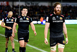 Jannes Kirsten of Exeter Chiefs after the final whistle of the match - Mandatory by-line: Ryan Hiscott/JMP - 29/12/2019 - RUGBY - Sandy Park - Exeter, England - Exeter Chiefs v Saracens - Gallagher Premiership Rugby