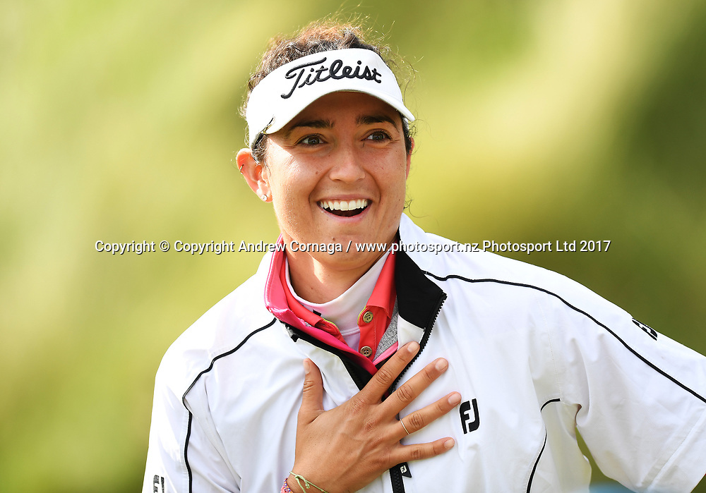 USA's Emily Tubert.<br /> McKayson NZ Women's Open 2017. LPGA Tour. Windross Farm, Auckland, New Zealand. Tuesday 26 September 2017. &copy; Copyright Photo: Andrew Cornaga /www.photosport.nz