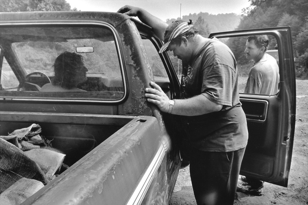 Appalachia, mountains, people, west virginia, wv, economy, labor, workers, Bo, moss, pickers, caskets, gary, pickup, truckBo and pals gather at the pickup after a day of picking moss and ginsing.