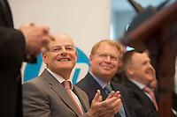 April 30, 2015 REPRO FREE &mdash;An Taoiseach Enda Kenny pictured with John Hinshaw, HP&rsquo;s Chief Customer Officer and Executive Vice President, Technology &amp; Operations, Martin Murphy, Managing Director of HP Ireland and Paddy Medley, Managing Director of HP Galway at the official opening of HP&rsquo;s new Innovation Centre in Ballybrit, Co. Galway.  <br /> <br /> Employing 700 highly skilled engineers the new state-of-the-art facility confirms Galway&rsquo;s status as a Centre of Excellence within HP globally focusing on software research and development, OpenStack cloud technology and business service innovation. <br /> <br />  Photo: Andrews Downes XPOSURE