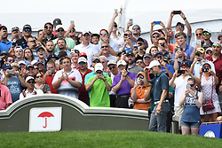 June 25, 2017 - Cromwell, Connecticut, U.S - Jordan Spieth is welcomed by the fans on the first tee during the final round of the Travelers Championship at TPC River Highlands in Cromwell, Connecticut. (Credit Image: © Brian Ciancio via ZUMA Wire)