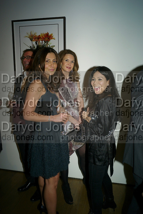ELLA KRASNER; KIM ROBSON-ORTIS; JACKIE MARTIN, THE LAUNCH OF THE KRUG HAPPINESS EXHIBITION AT THE ROYAL ACADEMY, London. 12 December 2011.