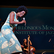 Nnenna Freelon performs Stormy Weather, in a tribute to Lena Horn, at the 25th annual Thelonious Monk International Jazz Competition and ?Women, Music and Diplomacy? All-Star Gala Concert at the Kennedy Center presented by the world-renowned Thelonious Monk Institute of Jazz.