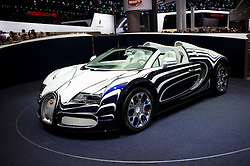 New Bugatti Veyron at Frankfurt Motor Show or IAA 2011 in Germany