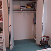 Guest bedroom closet before makeover