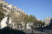 Outside the George Pompidou Centre, plaza, Paris, France<br />