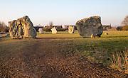 Avebury neolithic stone circle and henge, Wiltshire, England, UK