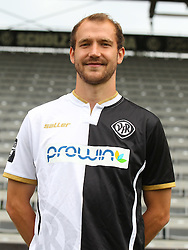 14.07.2015, Scholz Arena, Aalen, GER, 2. FBL, VfR Aalen, Fototermin, im Bild Sebastian Neumann ( VfR Aalen ) // during the official Team and Portrait Photoshoot of German 2nd Bundesliga Club VfR Aalen at the Scholz Arena in Aalen, Germany on 2015/07/14. EXPA Pictures © 2015, PhotoCredit: EXPA/ Eibner-Pressefoto/ Langer<br /> <br /> *****ATTENTION - OUT of GER*****