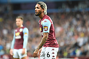 Aston Villa midfielder Douglas Luiz (6) during the Premier League match between Aston Villa and Everton at Villa Park, Birmingham, England on 23 August 2019.
