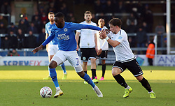 Mohamed Eisa of Peterborough United in action with Jack Munns of Dover Athletic - Mandatory by-line: Joe Dent/JMP - 01/12/2019 - FOOTBALL - Weston Homes Stadium - Peterborough, England - Peterborough United v Dover Athletic - Emirates FA Cup second round