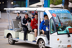 NANNING, CHINA - Sunday, March 25, 2018: Wales' Gareth Bale arrives for a training session at the Guangxi Sports Centre ahead of the 2018 Gree China Cup International Football Championship final match against Uruguay. (Pic by David Rawcliffe/Propaganda)