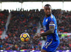Wes Morgan of Leicester City - Mandatory by-line: Paul Roberts/JMP - 04/11/2017 - FOOTBALL - Bet365 Stadium - Stoke-on-Trent, England - Stoke City v Leicester City - Premier League