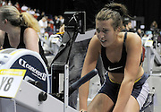 Birmingham, Great Britain,   Exhaustion and agony after competing in the open weight women's event  at the British Indoor Rowing Championships, National Indoor Arena, NIA,  Sun, 22.11.2009  [Mandatory Credit. Peter Spurrier/Intersport Images]
