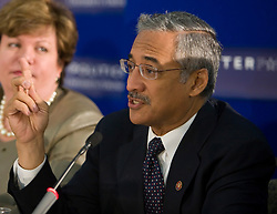 "Robert C. ""Bobby"" Scott (D-VA), Congressman for the 3rd district of Virginia, participates in the second panel.  The U.Va. Center for Politics and CQ Politics hosted the 10th Annual American Democracy Conference at Alumni Hall on the Grounds of the University of Virginia in Charlottesville, VA on November 21, 2008."