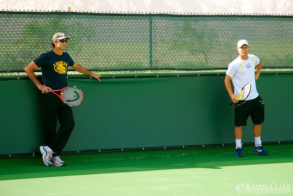 Lleyton Hewitt, Australia, ATP Player, Darin Cahill, Pacific Life Open Tennis Tournament, Indian Wells Tennis Garden, California, United States