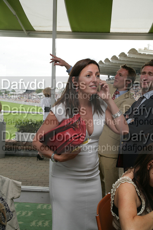 Davina McCall, Glorious Goodwood. 2 August 2007.  -DO NOT ARCHIVE-© Copyright Photograph by Dafydd Jones. 248 Clapham Rd. London SW9 0PZ. Tel 0207 820 0771. www.dafjones.com.