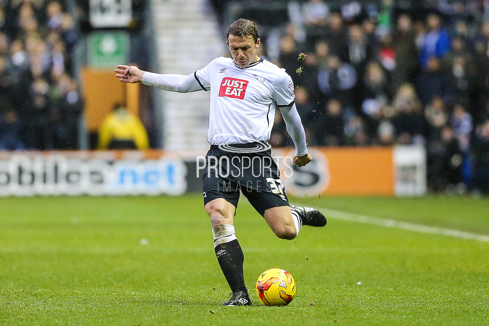 Derby County's Stephen Warnock during the Sky Bet Championship match between Derby County and Brighton and Hove Albion at the iPro Stadium, Derby, England on 12 December 2015. Photo by Shane Healey.