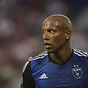 Jordan Stewart, San Jose Earthquakes, in action during the New York Red Bulls Vs San Jose Earthquakes, Major League Soccer regular season match at Red Bull Arena, Harrison, New Jersey. USA. 19th July 2014. Photo Tim Clayton
