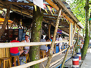 "The open air Hot Rocks bar in Puerto Viejo, Limon, Costa Rica - the ""center"" of town!"