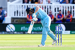 Jos Buttler of England hits a four - Mandatory by-line: Robbie Stephenson/JMP - 14/07/2019 - CRICKET - Lords - London, England - England v New Zealand - ICC Cricket World Cup 2019 - Final