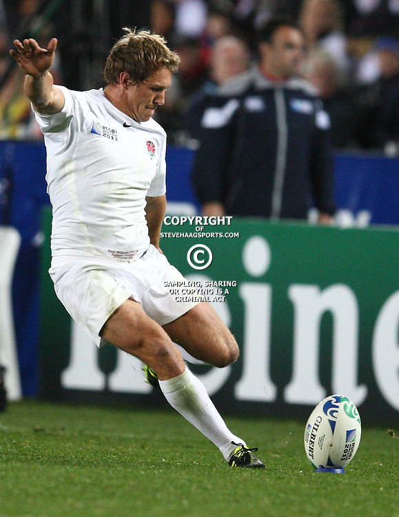 AUCKLAND, NEW ZEALAND - OCTOBER 01, Jonny Wilkinson during the 2011 IRB Rugby World Cup match between England and Scotland at Eden Park on October 01, 2011 in Auckland, New Zealand<br /> Photo by Steve Haag / Gallo Images