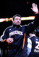 Nov. 3 2010; Phoenix, AZ, USA; Phoenix Suns forward Hedo Turkoglu (19) is announced during opening activities prior to a game against the San Antonio Spurs at the US Airways Center. The Spurs defeated the Suns 112-110.   Mandatory Credit: Jennifer Stewart-US PRESSWIRE.