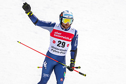 02.03.2020, Hannes Trinkl Weltcupstrecke, Hinterstoder, AUT, FIS Weltcup Ski Alpin, Riesenslalom, Herren, 2. Lauf, im Bild Riccardo Tonetti (ITA) // Riccardo Tonetti of Italy reacts after his 2nd run of men's Giant Slalom of FIS ski alpine world cup at the Hannes Trinkl Weltcupstrecke in Hinterstoder, Austria on 2020/03/02. EXPA Pictures © 2020, PhotoCredit: EXPA/ Johann Groder