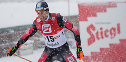 31.01.2016, Casino Arena, Seefeld, AUT, FIS Weltcup Nordische Kombination, Seefeld Triple, Langlauf, im Bild Wilhelm Denifl (AUT) // Wilhelm Denifl of Austria competes during 15km Cross Country Gundersen Race of the FIS Nordic Combined World Cup Seefeld Triple at the Casino Arena in Seefeld, Austria on 2016/01/31. EXPA Pictures © 2016, PhotoCredit: EXPA/ Jakob Gruber