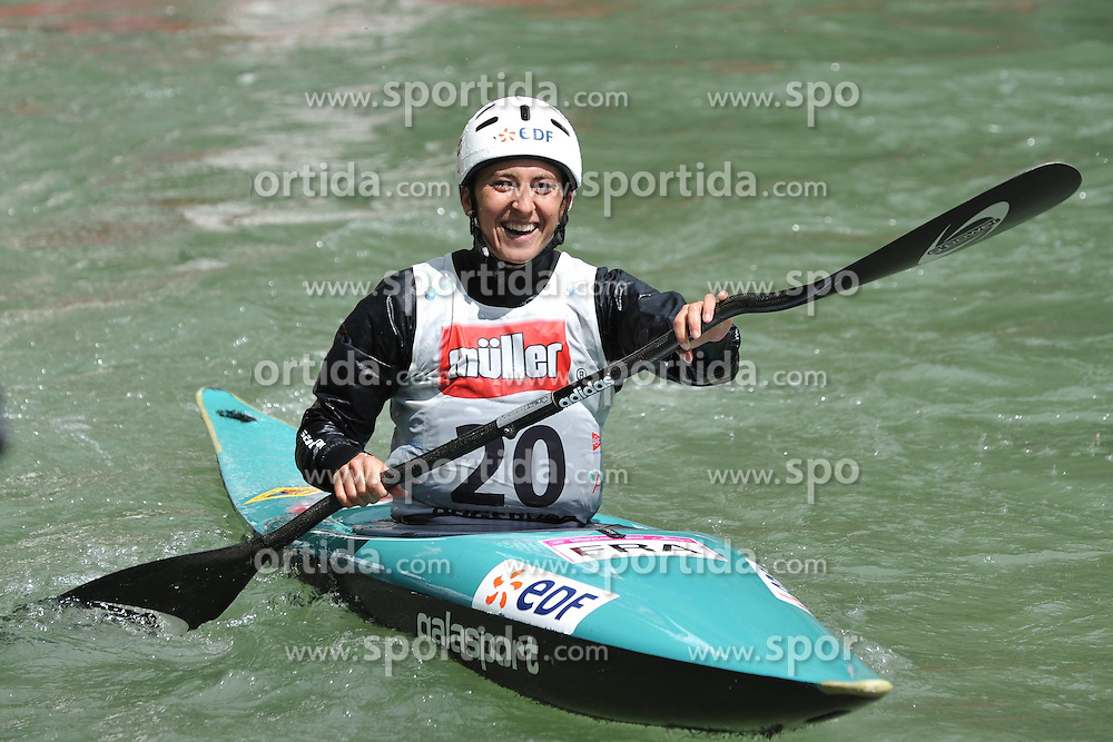 13.05.2012, Eiskanal, Augsburg, GER, ECA, Kanuslalom Europameisterschaft, im Bild Europameisterin fuer Frankreich im K1, Carole Bouzidi // during the ECA European Canoe Championships at the Ice channel, Augsburg, Germany on 2012/05/13. EXPA Pictures © 2012, PhotoCredit: EXPA/ Eibner/ Burghard Schreyer..***** ATTENTION - OUT OF GER *****