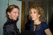 MARGOT STILLEY AND SARAH WOODHEAD, Dinner after the opening of Larry Clark. Los Angeles 2003- 2006. Simon Lee Gallery.  17 Berkeley st. London. 5 February 2008.  *** Local Caption *** -DO NOT ARCHIVE-© Copyright Photograph by Dafydd Jones. 248 Clapham Rd. London SW9 0PZ. Tel 0207 820 0771. www.dafjones.com.