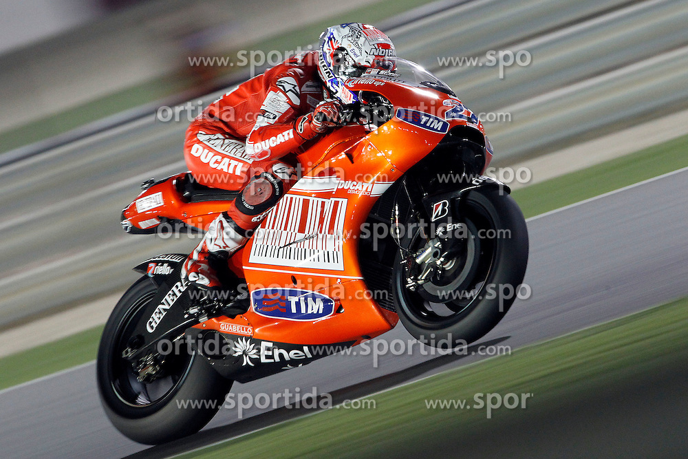 10.04.2010, Losail Circuit, Doha, QAT, MotoGP Qatar 2010, Qualification, im Bild Casey Stoner - Ducati team. EXPA Pictures © 2010, PhotoCredit: EXPA/ InsideFoto/ Semedia / SPORTIDA PHOTO AGENCY