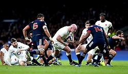 Dan Cole of England carries the ball forward - Mandatory by-line: Robbie Stephenson/JMP - 04/02/2017 - RUGBY - Twickenham - London, England - England v France - RBS Six Nations
