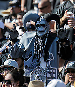 Oct 09 2016 - Oakland U.S. CA - Oakland Raiders fan as the Joker during the NFL Football game between San Diego Chargers and the Oakland Raiders 34-31 win at O.co Coliseum Stadium Oakland Calif. Thurman James