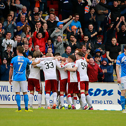Rangers players congratulate Jon Toral on hs goal and take his team 2-0 up