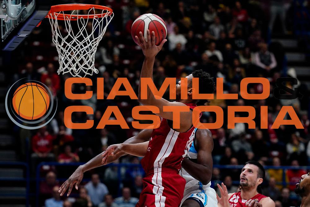 Brooks Jeff <br /> A|X Armani Exchange Olimpia Milano - Vanoli Cremona <br /> Basket Serie A LBA 2019/2020<br /> Milano 09 February 2020<br /> Foto Mattia Ozbot / Ciamillo-Castoria