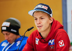 26.12.2014, Oberstdorf Haus, Oberstdorf, GER, FIS Ski Sprung Weltcup, 63. Vierschanzentournee, Offizielle Pressekonfernz, im Bild Michael Hayboeck (AUT) // Michael Hayboeck of Austria// during official Press Conference of 63 rd Four Hills Tournament of FIS Ski Jumping World Cup at the Oberstdorf Haus, Oberstdorf, Germany on 2014/12/26. EXPA Pictures © 2014, PhotoCredit: EXPA/ Peter Rinderer