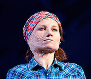 Ugly Lies The Bone <br /> by Lindsey Ferrentino<br /> at The Lyttelton Theatre, London, Great Britain <br /> Press photocall <br /> 28th February 2017 <br /> <br /> <br /> Kate Fleetwood as Jess<br /> <br /> <br /> <br /> <br /> Photograph by Elliott Franks <br /> Image licensed to Elliott Franks Photography Services