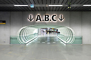 direction signage to terminal halls at airport Blagnac Toulouse France