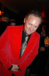 JOE CORRE son of Vivienne Westwood at a party and fashion show by Agent Provocateur at the Cafe de Paris, Coventry Street, London W1 on 14th February 2005.<br />