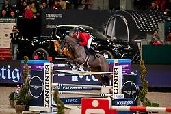 SCHWIZER Pius (SUI), Living The Dream<br /> Leipzig - Partner Pferd 2019<br /> Longines FEI Jumping World Cup<br /> Sparkassen-Cup - Grosser Preis von Leipzig<br /> 20. Januar 2019<br /> © www.sportfotos-lafrentz.de/Stefan Lafrentz
