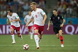 July 1, 2018 - Nizhny Novgorod, Russia - Nicolai Jorgensen of Denmark during the 2018 FIFA World Cup Russia Round of 16 match between Croatia and Denmark at Nizhny Novgorod Stadium on July 1, 2018 in Nizhny Novgorod, Russia. (Credit Image: © Foto Olimpik/NurPhoto via ZUMA Press)