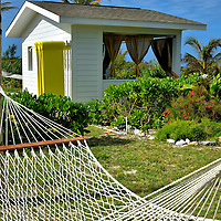 Cabana and Hammock at Great Stirrup Cay, Bahamas<br />