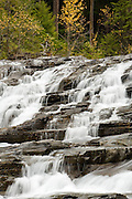 Falls on McDonald Creek, Glacier National Park.