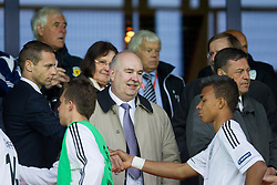 Aleksander Ceferin, president of NZS  at medal ceremony after the UEFA European Under-17 Championship Final match between Germany and Netherlands on May 16, 2012 in SRC Stozice, Ljubljana, Slovenia. Netherlands defeated Germany after penalty shots and became European Under-17 Champion 2012. (Photo by Vid Ponikvar / Sportida.com)
