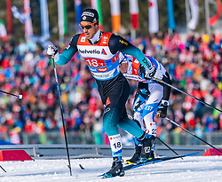 24.02.2019, Langlauf Arena, Seefeld, AUT, FIS Weltmeisterschaften Ski Nordisch, Seefeld 2019, Langlauf, Herren, Teambewerb, im Bild Richard Jouve (FRA) // Richard Jouve of France during the men's cross country team competition of FIS Nordic Ski World Championships 2019 at the Langlauf Arena in Seefeld, Austria on 2019/02/24. EXPA Pictures © 2019, PhotoCredit: EXPA/ Stefan Adelsberger