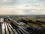 Nederland, Utrecht, Gemeente De Bilt, 20-02-2012; Polder Westbroek en Polder, Westbroekse Zodden in de sneeuw..Snowy polder with land division in the light of the late afternoon..luchtfoto (toeslag), aerial photo (additional fee required).copyright foto/photo Siebe Swart