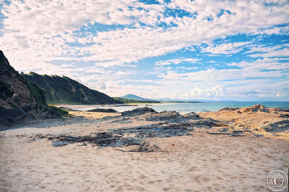 A small beach in Australia near Nambucca Heads,NSW.